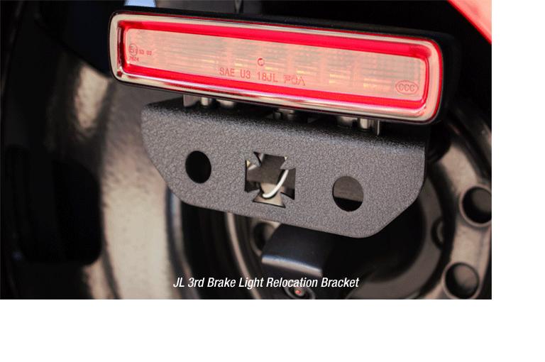 JL 3rd Brake Light Relocation Bracket