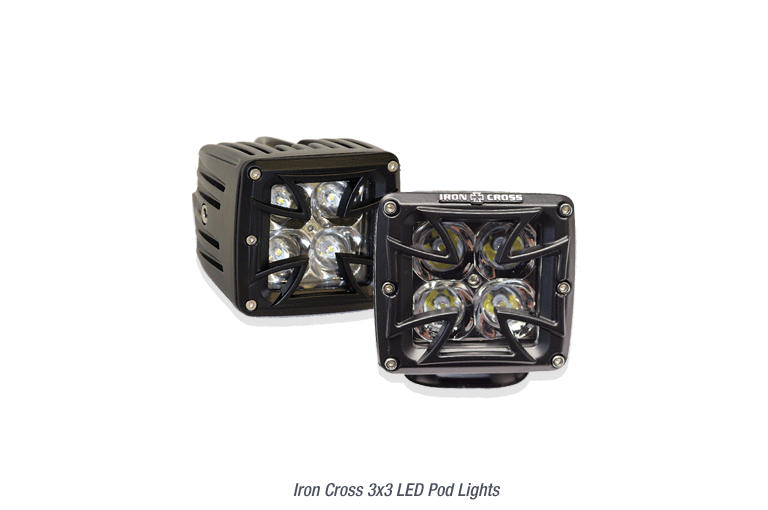 3x3 Iron Cross LED Pod lights