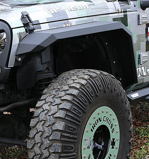 Front Jeep JK Steel Fender Flares