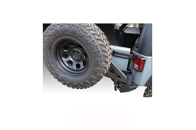 Full Sized Rear Jeep Bumper with Swing Away Tire