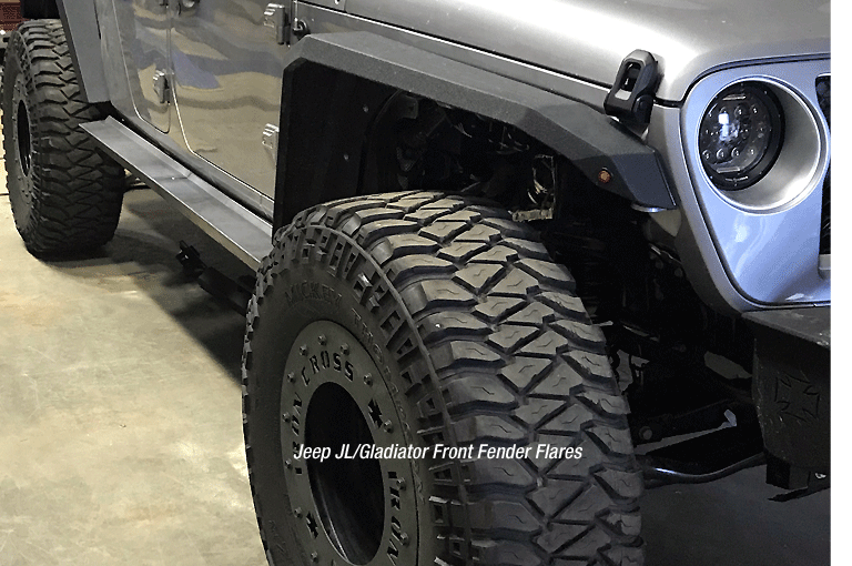 Jeep Patriot Tires >> American made Jeep Fender Flares from Iron Cross Automotive.