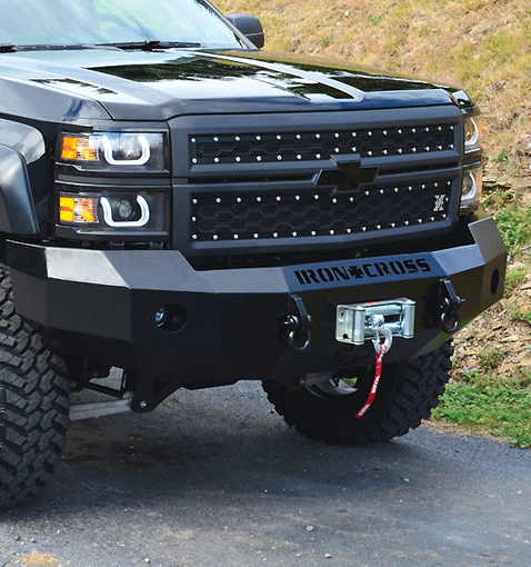 American Made Heavy Duty Front Bumpers From Iron Cross Automotive