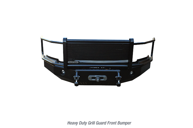 Heavy Duty Front Base Bumper with Grille Guard