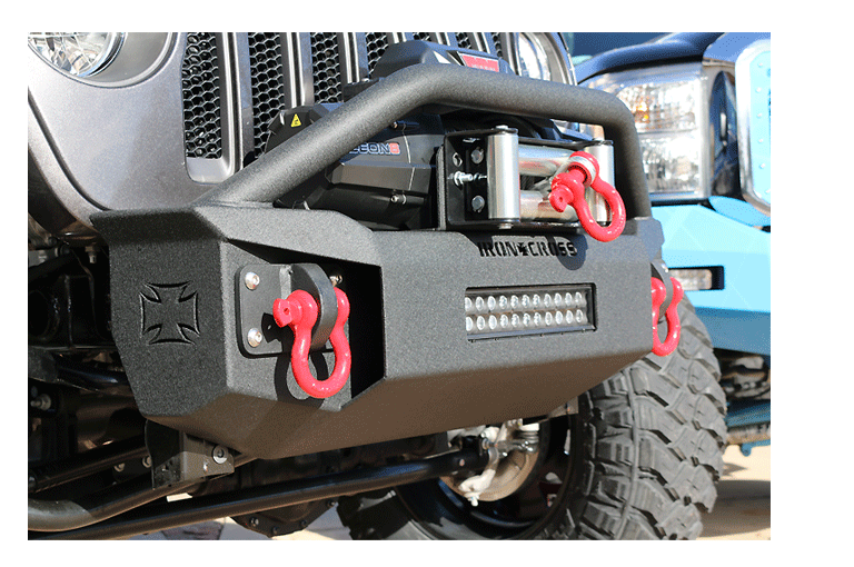 Stubby Front Jeep JL Bumper With Bar