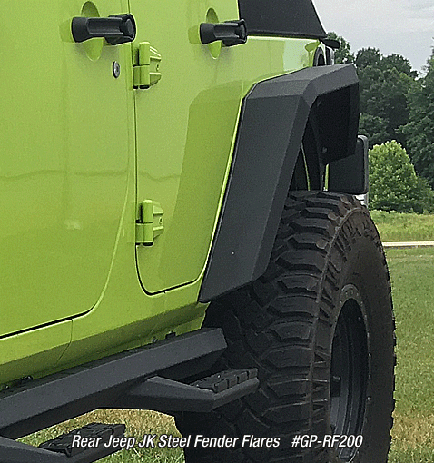 Rear Jeep JK Steel Fender Flares